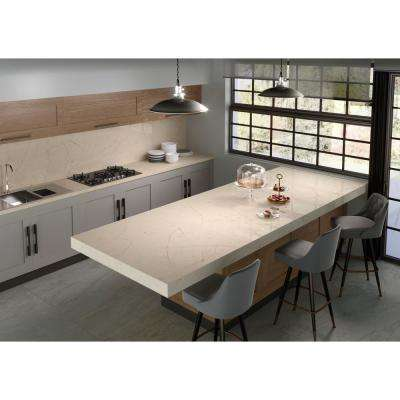 2 in. x 4 in. Quartz Countertop Sample in Eternal Marfil