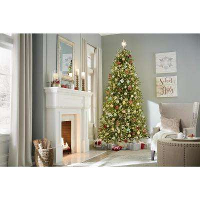 9 ft. Pre-Lit LED Aspen Fir Artificial Christmas Tree with 3500 Warm White Micro Dot Lights