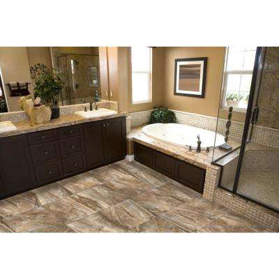 Eurasia Noce 13.07 in. x 13.07 in. x 10mm Porcelain Mesh-Mounted Mosaic Tile (1.12 sq. ft.)