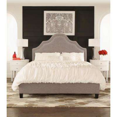 Beauvais Grey Linen King-Size Bed