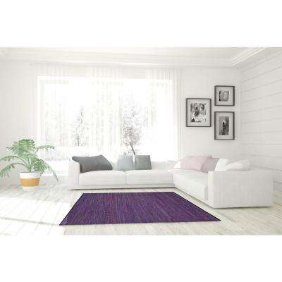 Leather Matador Purple 4 ft. x 6 ft. Area Rug