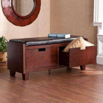 Oswald 2-Drawer Bench in Black
