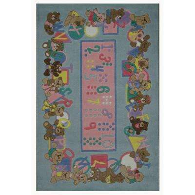 Supreme, Teddies & Letters, Multi Colored 39 in. x 58 in. Area Rug