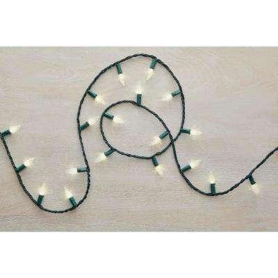 68 ft. 200-Light LED Warm White Faceted C6 Super Bright String Light