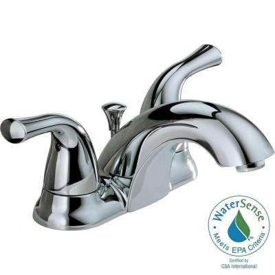 Classic 4 in. Centerset 2-Handle Mid-Arc Bathroom Faucet in Chrome