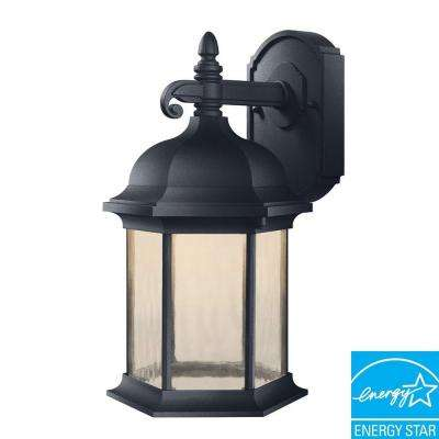 Oxford Collection Black Outdoor LED Wall Lantern