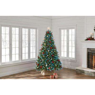 7.5 ft. Pre-Lit LED Swiss Mountain Spruce Artificial Christmas Tree with 600 Twinkly App Lights