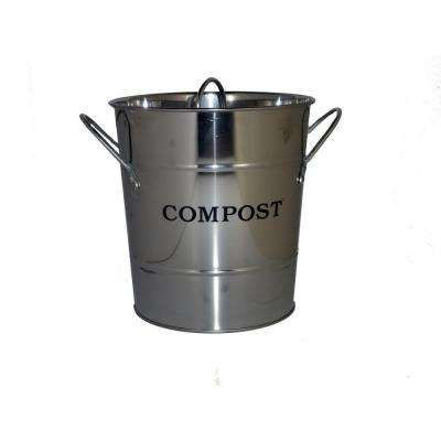 2-in-1 Stainless Steel Lid with Rubber Seal Compost Bucket