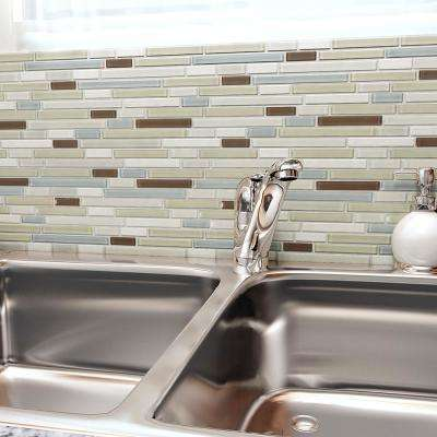 Tessera Piano York 11-5/8 in. x 11-3/4 in. x 8 mm Glass and Stone Mosaic Tile