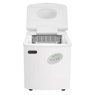33 lb. Freestanding Portable Ice Maker in White