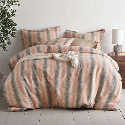 Endicott Stripe Yarn Dye Flannel Duvet Cover