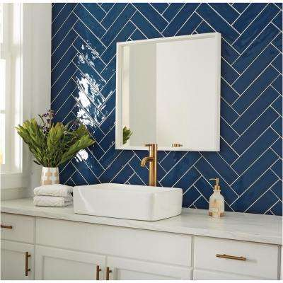 LuxeCraft Blue 3 in. x 12 in. Glazed Ceramic Wall Tile (12 sq. ft. / case)