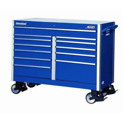 SHD Series 54 in. 12-Drawer Cabinet, Blue