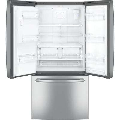 33 in. W 23.8 cu. ft. French Door Refrigerator in Stainless Steel