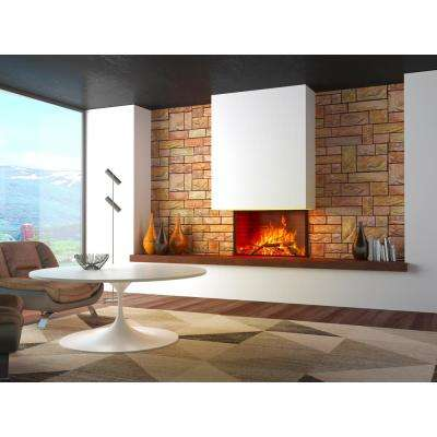3D Retro 16/1000 in. x 38 in. x 19 1/2 in. Yellow, Brown PVC Wall Panel