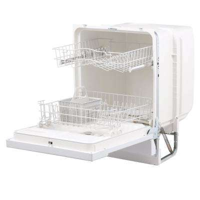 Front Control Dishwasher in White