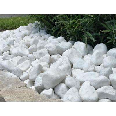 2 in. to 3 in. 30 lb. Large Snow White Pebbles