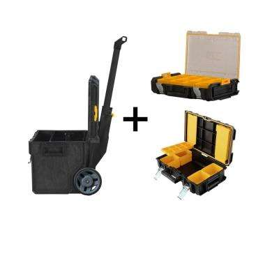 ToughSystem DS450 22 in. 17 Gal. Mobile Tool Box, DS130 Tool Box and Small Parts Organizer Combo Set (3 Components)