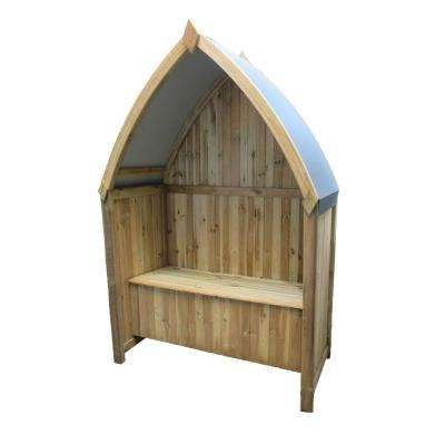 English Garden 54 in. x 84 in. Winchester Wood Boat Arbor with Seat