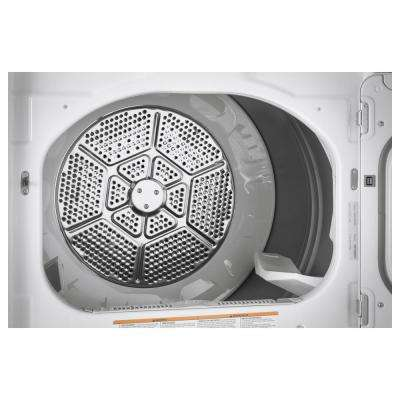 7.4 cu. ft. 240 Volt White Electric Vented Dryer with Steam and Wifi Connected, ENERGY STAR