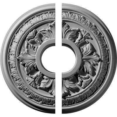 15-3/8 in. O.D. x 4-1/4 in. I.D. x 1-1/2 in. P Baltimore Ceiling Medallion (2-Piece)