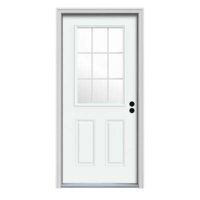 32 x 80 - 9 Lite - Doors With Glass - Steel Doors - The Home Depot