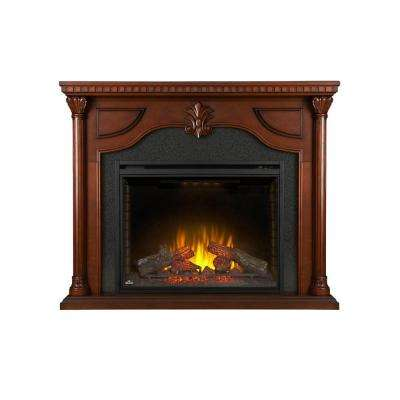 Aden 40 in. x 31.8 in. Firebox with 64 in x 52.3 in Mantel