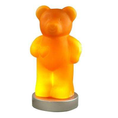 13.75 in. Amber Bear Accent Lamp