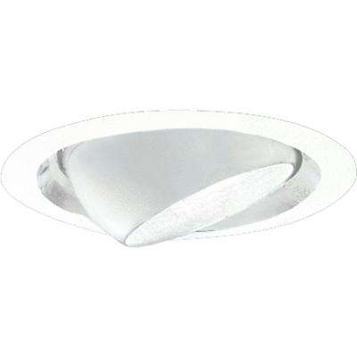 6 in. White Eyeball Trim for Shallow Recessed Housings