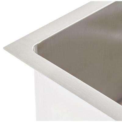 QUATRUS R15 Undermount Stainless Steel 32 in Single Bowl Kitchen Sink