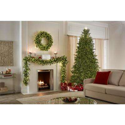 9 ft. Pre-Lit LED Elegant Fir Artificial Christmas Tree with 3000 Warm White Micro Dot Lights