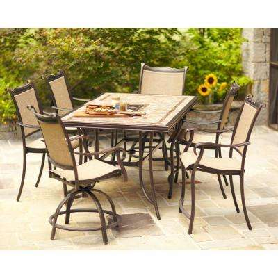 Sling Patio Furniture Bar Height Dining Sets Outdoor Bar