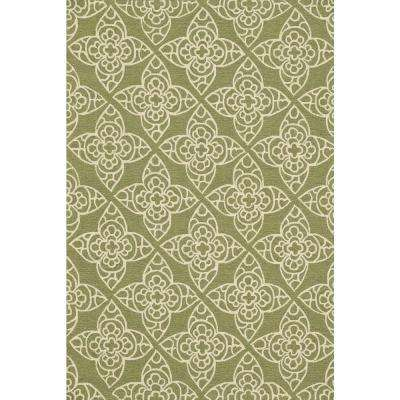 Summerton Lifestyle Collection Green/Ivory 7 ft. 6 in. x 9 ft. 6 in. Area Rug