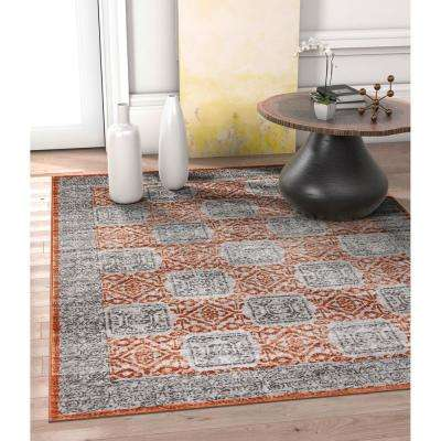 Hughes Pompey 8 ft. x 11 ft. Vintage Modern Abstract Copper Area Rug