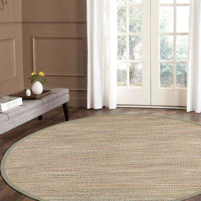 Shimmer Natural Fiber Gray 8 ft. Plush Round Area Rug