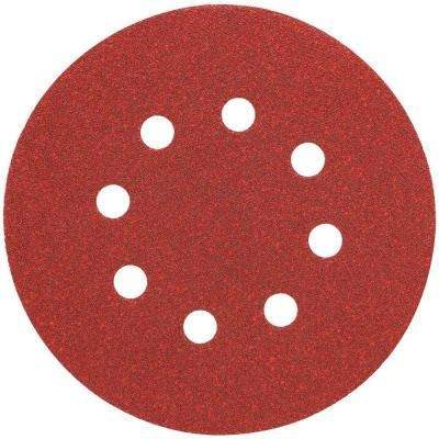 5 in. 8 Hole 120-Grit H and L Random Orbit Sandpaper (25-Pack)