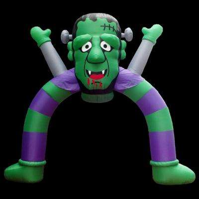 120 in. W x 40 in. D x 144 in. H Inflatable Halloween Archway Monster with Disco Lights
