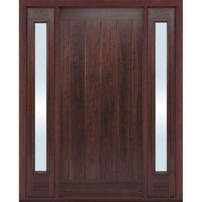 36 in. x 80 in. AvantGuard Flagstaff Finished Smooth Fiberglass Prehung Front Door with No Brickmold and Sidelites