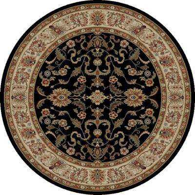 Ankara Agra Black 7 ft. 10 in. Round Area Rug