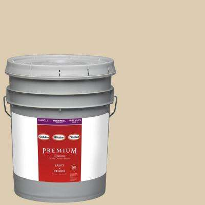 5-gal. #HDGY50U Shy Gold Eggshell Latex Interior Paint with Primer