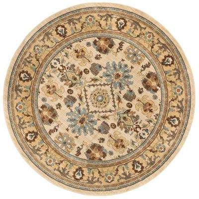 Charisma Butter Pecan 8 ft. Round Area Rug