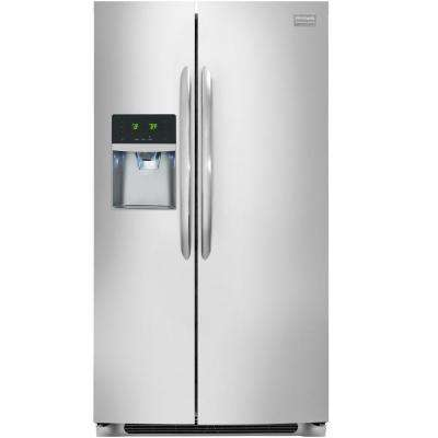 22.16 cu. ft. Side by Side Refrigerator in Stainless Steel, Counter Depth