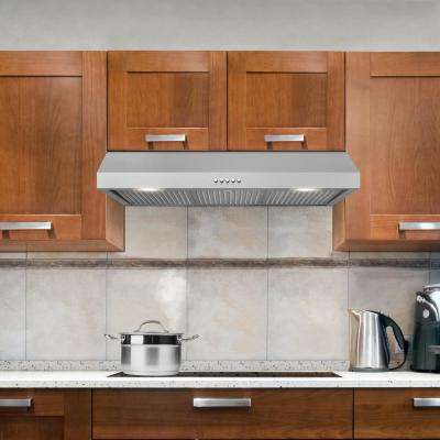36 in. W Under Cabinet Range Hood in Stainless Steel