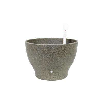 Eco 12 in. Concrete Gray Natural Plant Fibers and Recycled Resin Self Watering Planter