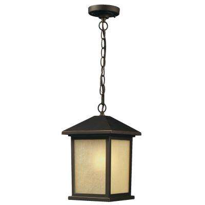 Lawrence 1-Light Oil-Rubbed Bronze Incandescent Outdoor Hanging Pendant