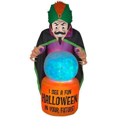 44.49 in. W x 52.76 in. D x 90.16 in. H Inflatable-Mixed Media-Fire and Ice-Fortune Teller (BBG)