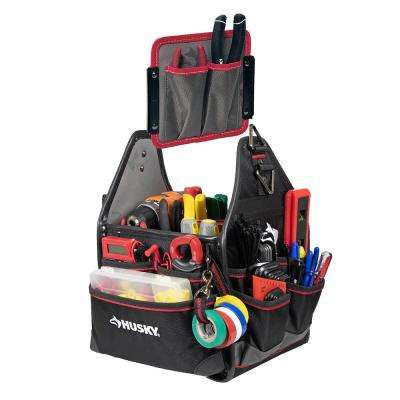 10 in. Electrician Tool Bag with Removable Tool Wall