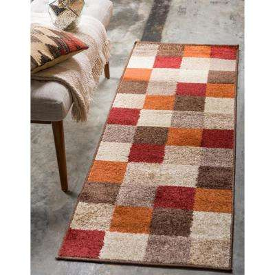 Autumn Patchwork Multi 2' 0 x 6' 0 Runner Rug
