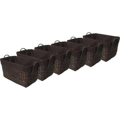 13 in. x 7.5 in. Tapered Rectangular Basket with Liner (6-Pack)
