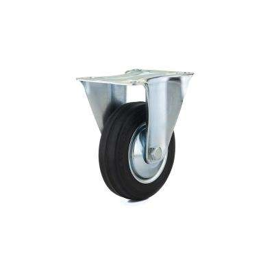 3-15/16 in. black Fixed plate Caster, 154.4 lb. Load Rating